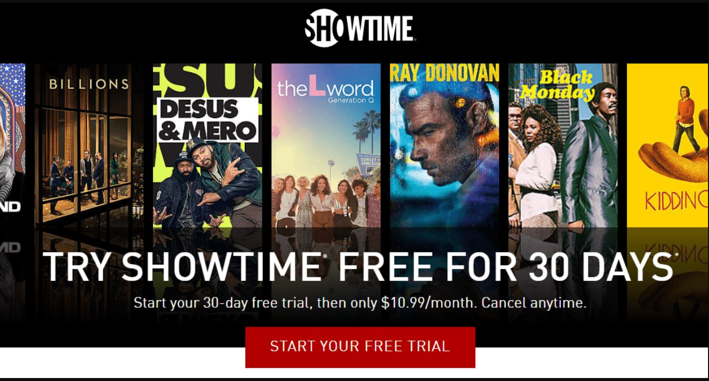 Showtime Free 30-Day Trial